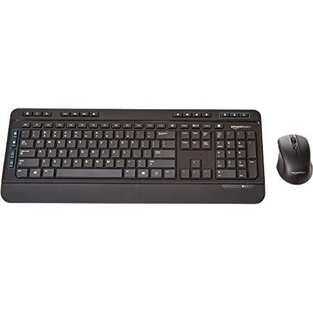 Amazon Basics Wireless Computer Keyboard and Mouse Combo - Full Size - US Layout (QWERTY)