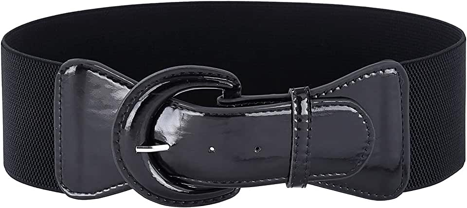GRACE KARIN Women's Wide Stretchy Cinch Belt Vintage Chunky Buckle Belts S-XXXXL