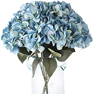 Blooming Paradise 5Heads Artificial Fake Flower Plants Silk Hydrangea Arrangements Wedding Bouquets Decoration Plastic Hom...