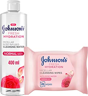 Micellar water, Fresh Hydration 400 ml + Cleansing Face wipes, 25 wipes