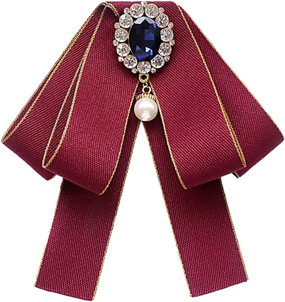 yeesport Women Bow Tie Adjustable Fashion Elegant Faux Pearl Casual Simple Shirt Bow Pin Uniform Necktie for Women