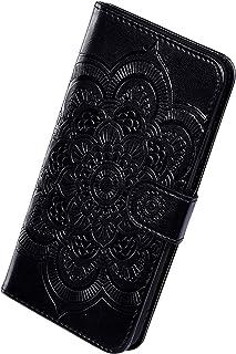 Herbests Kompatybilne z Samsung Galaxy A20S etui na telefon komórkowy retro słodkie mandala wzór kwiatowy Flip etui ochron...