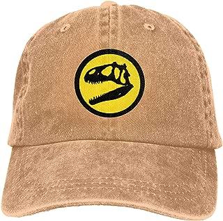 Jurassic Park Logo Unisex Adult Vintage Adjustable Baseball Cap Cotton Denim Cowboy Hat,Black