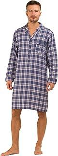 Haigman Mens Nightwear Brushed 100% Cotton 7394 Nightshirt
