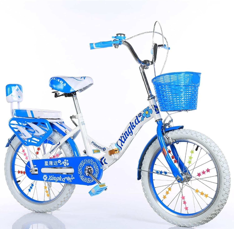 子供の折りたたみ自転車、男の子、女の子学生バスケット後部座席高炭素鋼ボディ丈夫で安全な子供用5-13 115-128CM