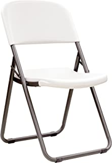 Lifetime 80155 Loop Leg Folding Chair, White Granite , Pack of 4
