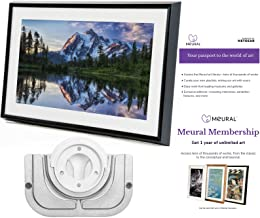 Meural Canvas - Smart Digital Photo Frame - Art Display   Leonora Black   Swivel Wall Mount   27 inch HD Display with WiFi   Smart Home Compatible   Includes One-Year Membership to Art Library