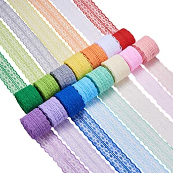 Cinta trenzada para manualidades dise/ño de ric rac en zigzag carrete de 20 m decorativa cinta de 6 mm