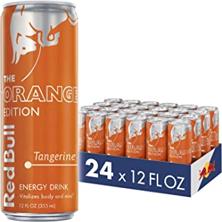 Red Bull Energy Drink, Tangerine, 24 Pack of 12 Fl Oz, Orange Edition