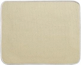 InterDesign iDry Large Kitchen Countertop Absorbent Dish Drying Mat, Wheat/Ivory
