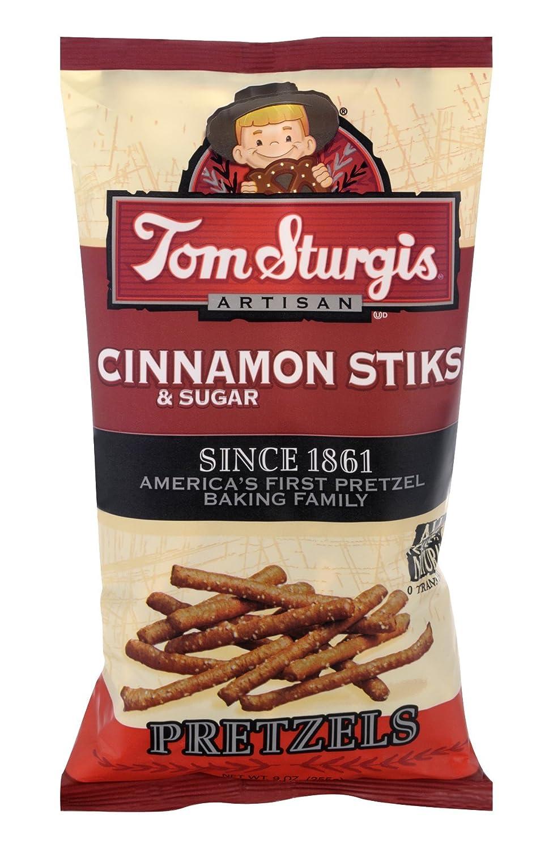 Tom Sturgis Cinnamon Sugar Sticks trust Pretzels 9 Bags 4 Now free shipping Bag oz.