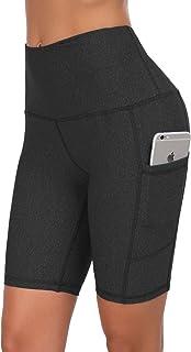 High Waist Out Pocket Yoga Pants Tummy Control Workout...