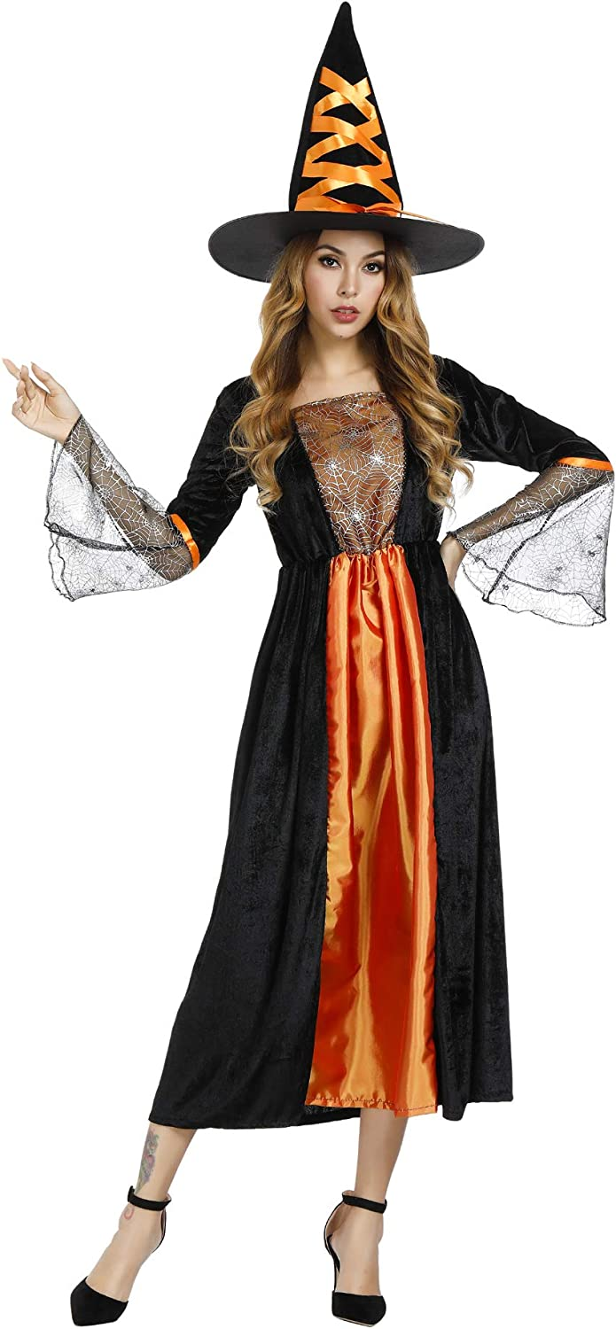 Grebrafan Cheap Witch Costume for Women Halloween Gothic Costumes gift