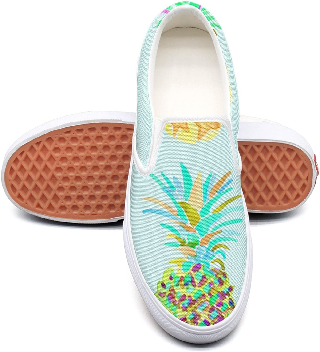 SEERTED Watercolor Pineapple Art Canvas shoes Women Casual