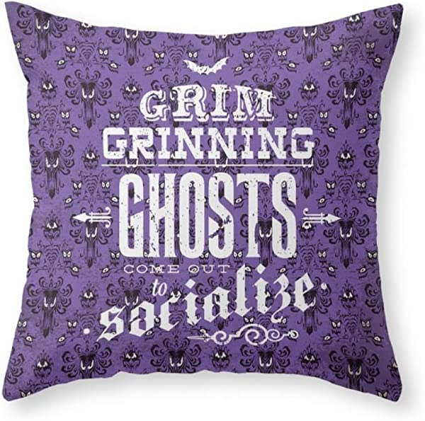 Sea Girl Soft Haunted Mansion Grim Grinning Ghosts Throw Pillow Indoor Cover Pillow Case For Your Home
