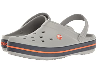 Crocs Crocband Clog (Light Grey/Navy) Clog Shoes