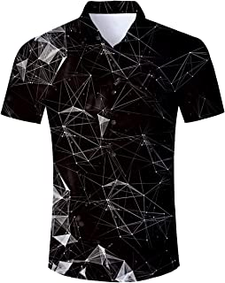 Loveternal Unisex 3D Print Hipster Short Sleeve Full Button Baseball Jersey Shirts
