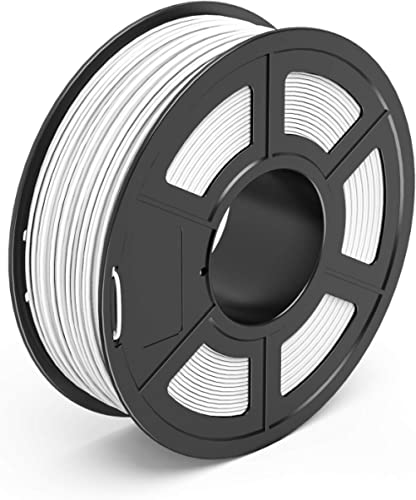 TECBEARS PLA 3D Printer Filament 1.75mm White, Dimensional Accuracy +/- 0.02 mm, 1 Kg Spool, Pack of 1