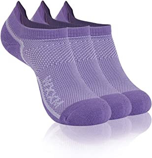 WXXM Athletic Ankle Socks Running No Show Comfort Cushioned Tab Socks 3 or 6 Pairs