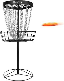 Disc Golf Basket Target, 24-Chain Metal Disc Golf Practice Target Catch Hole, Dynamic Portable Frisbee Golf Basket Indoor ...