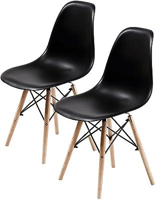 La Bella Replica Eames DSW Dining Chair - Black X2