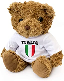 Italy Flag - Adorable Lovely Soft Brown Teddy Bear - Gift Present