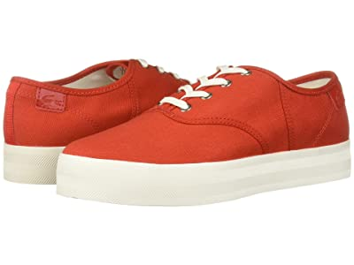 Lacoste Rene Platform 119 1 (Red/Off-White) Women