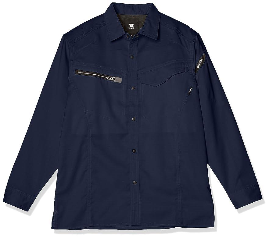 南等から[エフスタイル] ストレッチ長袖ワークシャツ F-STYLE 花粉対策JIS合格 静電防止?通気性?形状安定?ストレッチ長袖ワークシャツ F-SD020302