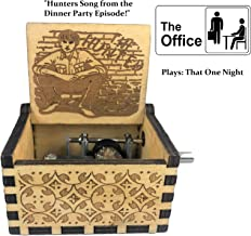 PhoenixAppeal Beautiful Carved Wooden Music Box Hand cranked: Lord of The Rings Beauty and The Beast, Star Wars, Frozen, Zelda and Lord of The Rings Theme Gift (The Office: Hunters Song)