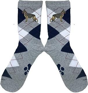 German Shepherd Argyle Socks.