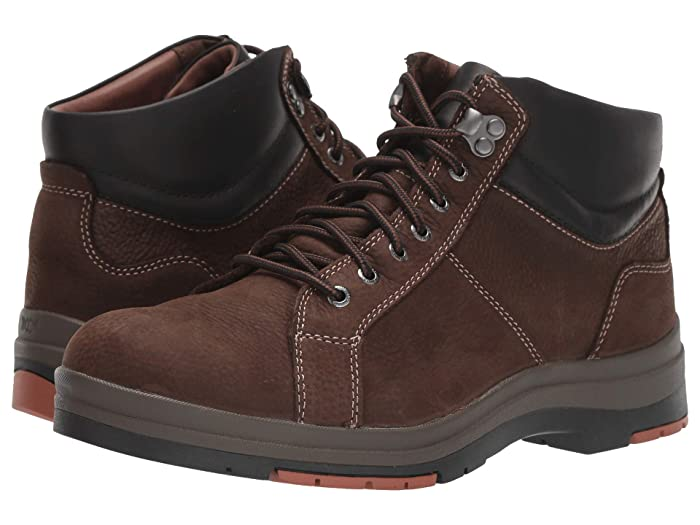 Johnston and Murphy  Cahill Lace-to-Toe Boot (Dark Brown Oiled Waterproof Nubuck) Mens Shoes