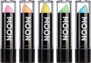 Moon Glow -Barra de labios neón UV 4.5gPastelSet de 5 colores -produce un brillo increíble bajo la iluminación/retroi...