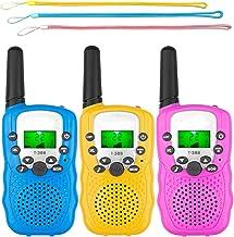 Homezal Walkie Talkies, 3 Pack Walkie Talkies for Kids, 22 Channels Radio Toy, 3 Miles Range with LCD Screen Flashlight fo...