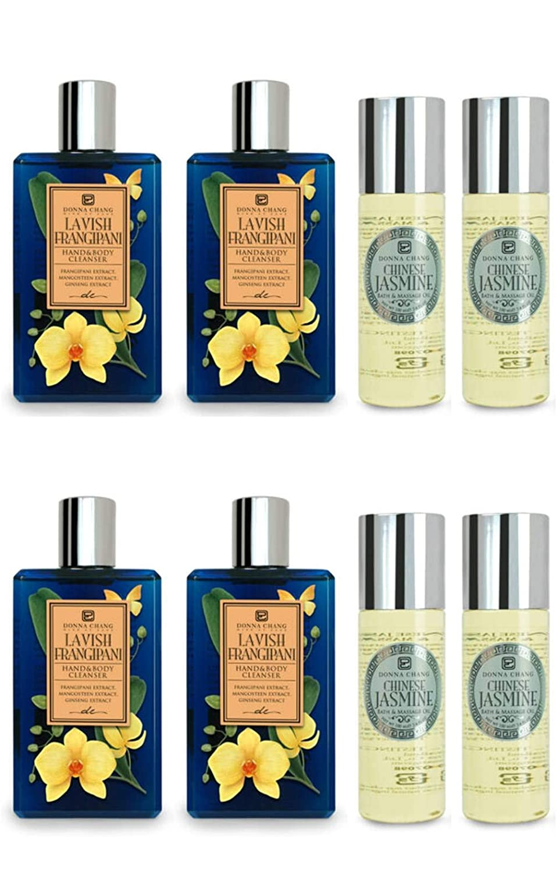 Donna Chang Lavish Frangipani Finally popular brand Shower New color Gel and Chinese Jasmine Bat