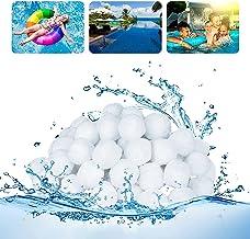 Generisch Bolas de filtro, sistema de filtro de arena para piscina, bolas de filtro para el sistema de filtro de arena, piscina, filtro de arena de acuario, accesorios de filtro de 700 g