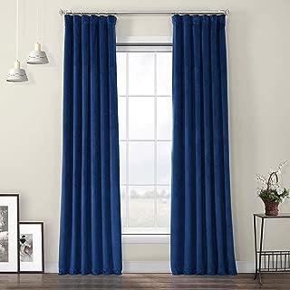HPD Half Price Drapes VPYC-198604-108 Heritage Plush Velvet Curtain, 50 X 108, Pisces Blue