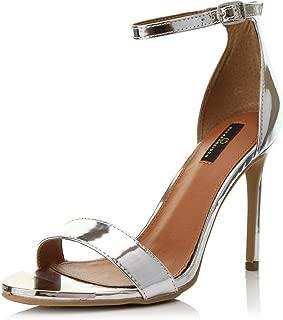 DailyShoes Women's Stilettos Sandal Open Toe Ankle Buckle Strap Platform Evening Party Dress Casual Shoes
