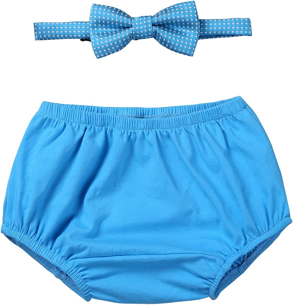 easyforever Unisex Baby Boys Girls Gentleman Birthday Party Outfit Bloomer with Bowtie Set Photo Daily Wear