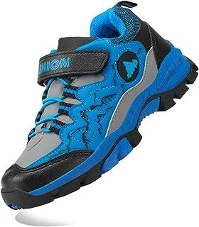 Kids Hiking Shoes School Athletic Tennis Sneaker Slip Resistant Steel Buckle Sole Walking Running Climbing Trekking Sneakers for Boys Girls