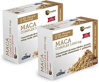 Maca complex 3.000 mg 60 cápsulas con guaraná, tríbulus, ortiga verde, eleuterococo, pimienta negra, vitamina B-2 y B-6. (Pack 2 unid.)