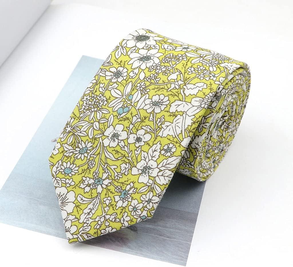 LQGSYT Men's Floral Brisk Soft Tie for Casual Cotton Slim Tie Skinny Handmade Adult Wedding Business Men Neckties Gift (Color : C)