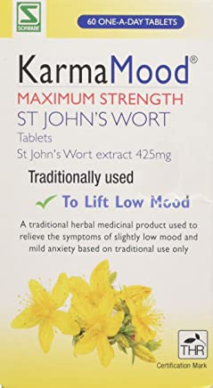 Schwabe Pharma KarmaMood Maximum Strength St John's Wort Extract 425mg Tablets - Pack of 60 Tablets