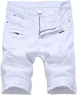 Best white ripped jean shorts men Reviews
