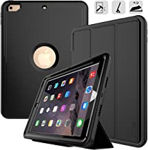 DUNNO New iPad 9.7 2017/2018 case Heavy Duty Full Body Rugged Protective Case with Auto Sleep/Wake Up Stand Folio & Three Layer Design for Apple iPad 9.7 inch 2017/2018 (Black)