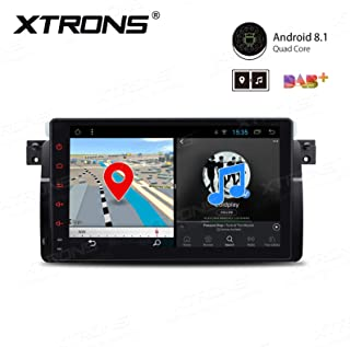 XTRONS 9 Inch Android 8.1 Car Stereo Radio GPS Navigator with Bluetooth 5.0 USB SD Supports Backup Camera DVR Full RCA SWC 4G 3G for BMW E46 3er M3 Rover75 MG ZT