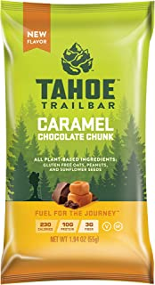 Tahoe Trail Bar - Energy Bar - Caramel Chocolate Chunk (1.94 Ounce Protein Bar, 12 Count)