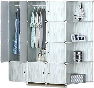 Garde-robe XINYALAMP Vêtements Armoire Portable Armoire pour Suspendre Meuble de Rangement en Plastique Armoire Armoire Ch...