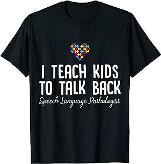 Speech Pathology Therapy Talk Autism Awareness Month TShirt