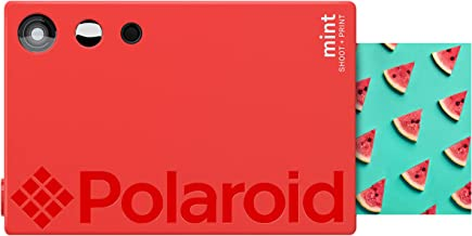Zink Polaroid Mint Instant Print Digital Camera (Red), Prints on Zink 2x3 Sticky-Backed Photo Paper