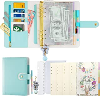 $28 » A5 Planner Binder Refillable Personal Organizer with Accessories, 6 Ring Planner Binder Softcover Calendar Mint Blue Refil...